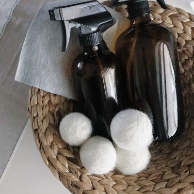 Homemade Dryer Balls & Natural Fabric Softener