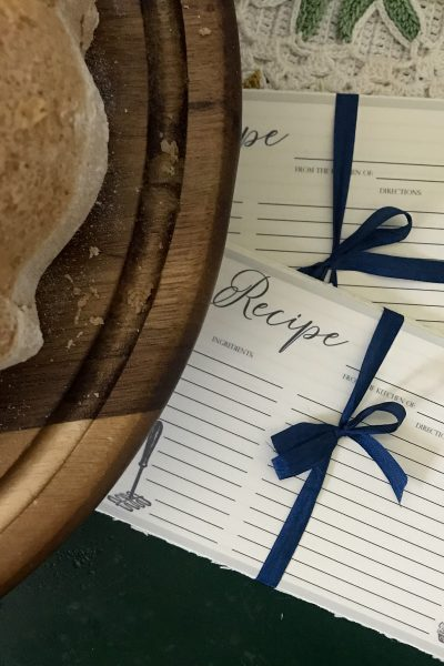 Recipe Cards & Instructions For A Simple Vanilla Cake
