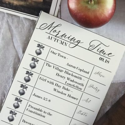 A Simple Guide to Morning Time + September Printable