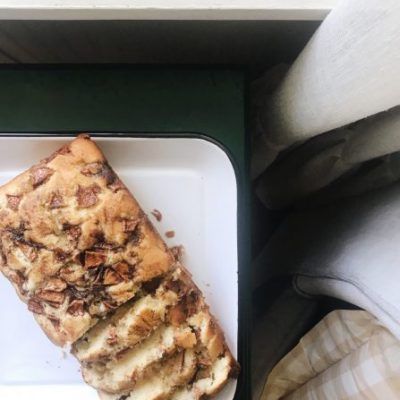 Warm Apple Fritter Bread for Late Summer Mornings with a Hint of Fall