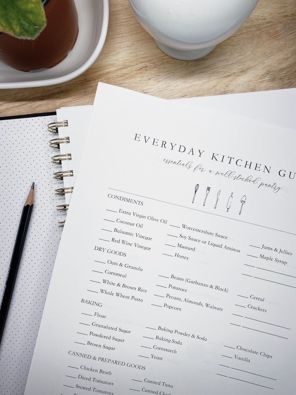 Everyday Kitchen Guide | Fresh Wanderings