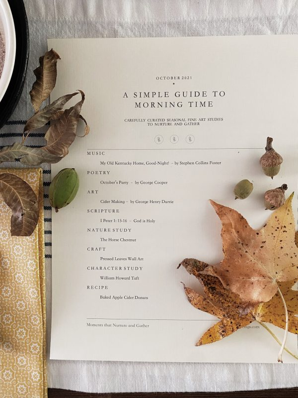 A Simple Guide to Morning Time October 2021 1